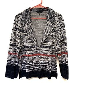Ming Wang Plus Size Knit Blazer Jacket 0X